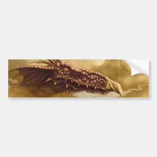 fantasía del dragón de vuelo etiqueta de parachoque