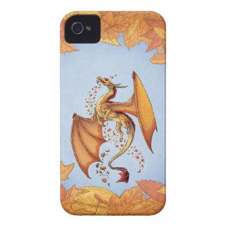 Fantasía del dragón del otoño iPhone 4 Case-Mate cobertura