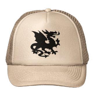 Fantasía del dragón gorras de camionero