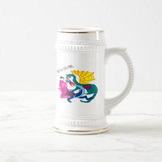 Fantasía del dragón tazas