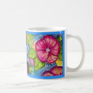 Fantasía del hibisco taza