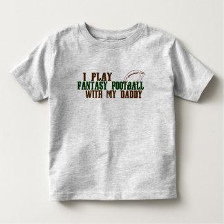 Fantasía del juego footbal con el papá playera de bebé