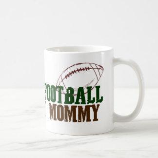 Fantasía del juego footbal con la mamá taza básica blanca