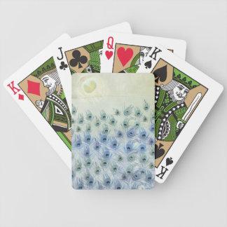 Fantasía del mar del pavo real barajas de cartas