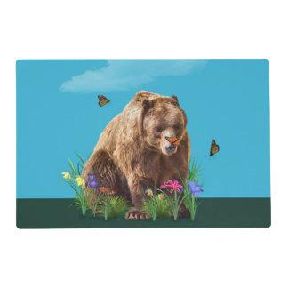 Fantasía del oso y de las mariposas tapete individual