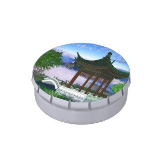 Fantasía del paisaje de la naturaleza de la pagoda jarrones de dulces