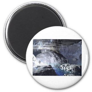 fantasía del pingüino del arte 3d imán redondo 5 cm
