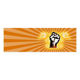Fantasía del puño de la mano (naranja) tarjetas de visita mini