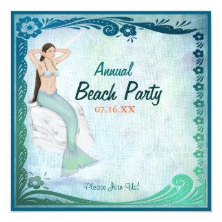 Fantasía del verde de mar invitacion personal