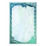 Fantasía del verde de mar papelería