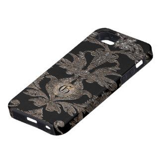 Fantasía del Victorian del damasco de Gavreau Nate Funda Para iPhone 5 Tough