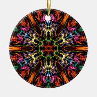 Fantasía fantástica adorno navideño redondo de cerámica