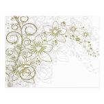 Fantasía floral blanca postal