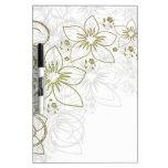 Fantasía floral blanca tablero blanco