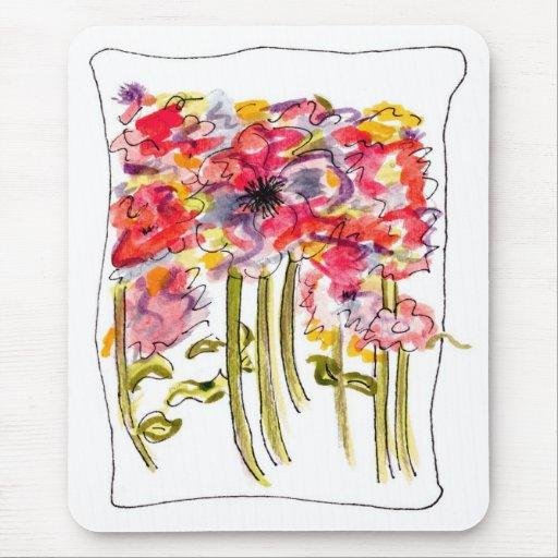 Fantasía floral de la acuarela tapetes de raton