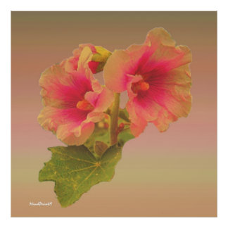 Fantasía floral poster