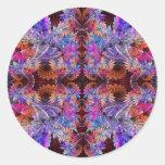 Fantasía floral pegatina redonda