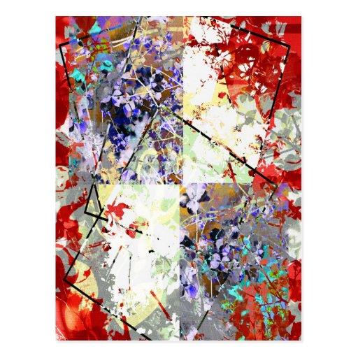 Fantasía floral postal