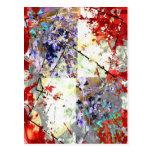 Fantasía floral postales