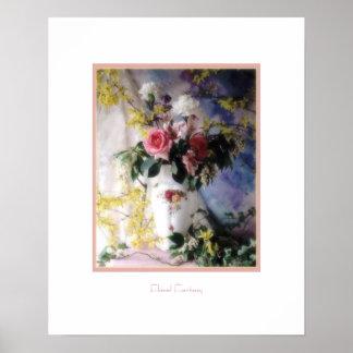 Fantasía floral póster