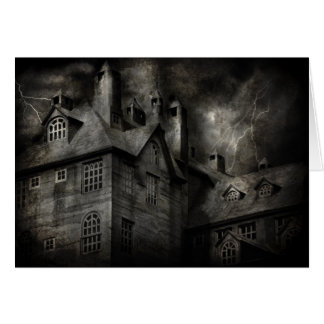 Fantasía - frecuentada - era una noche oscura y te tarjeta de felicitación