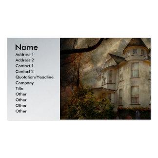 Fantasía - frecuentada - la casa de los vigilantes plantilla de tarjeta personal