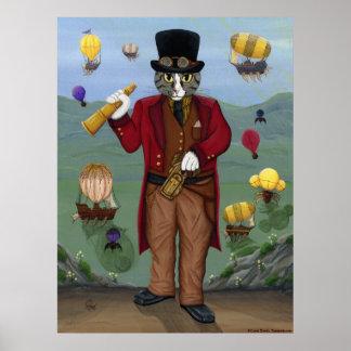 Fantasía gótica AR del retrato del Victorian del g Póster