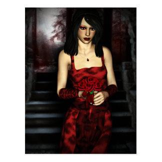 Fantasía gótica de Girls™ de la novia del vampiro Postal