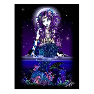 Fantasía gótica de la sirena de la postal de Uxia