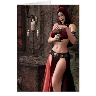 Fantasía gótica de las libaciones mortales tarjeta de felicitación