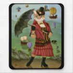 Fantasía gótica Mousepad del Victorian del gato de Tapetes De Raton