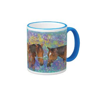 Fantasía ideal del caballo que protagoniza dos cab taza