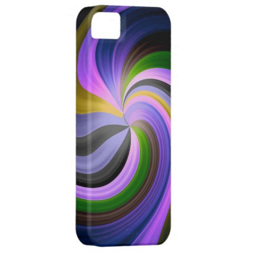 Fantasía mágica espiral del arco iris iPhone 5 Case-Mate carcasas