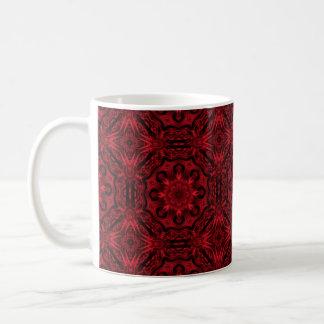 Fantasía medieval gótica roja y negra taza básica blanca