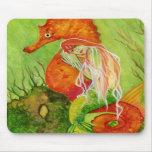 Fantasía Mousepad de la sirena del Seahorse Alfombrilla De Raton