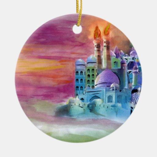 Fantasia Double-Sided Ceramic Round Christmas Ornament