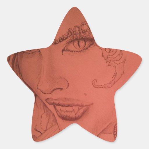 fantasía pegatina forma de estrella personalizada