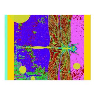 Fantasía púrpura de Dreamscape de la libélula por Tarjeta Postal