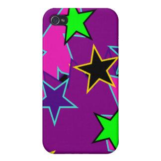 Fantasía púrpura de la estrella iPhone 4 carcasas