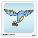 Fantasía que vuela el pájaro azul vinilo decorativo