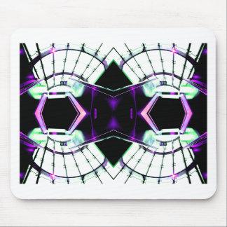 Fantasía retra de la era espacial del futurismo -  tapete de ratón