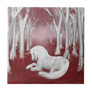 Fantasía roja y blanca azulejos cerámicos