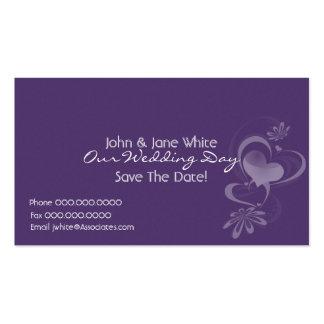 Fantasía romántica nuestra tarjeta de visita del b