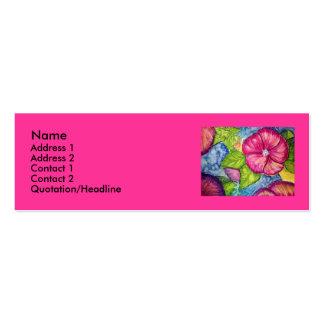 Fantasía rosada del hibisco tarjetas de visita mini