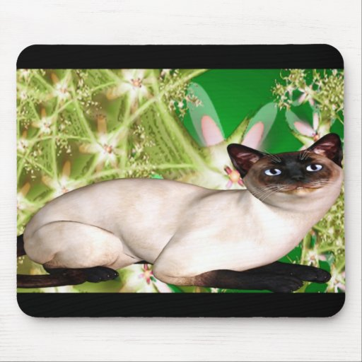 Fantasía siamesa mouse pad