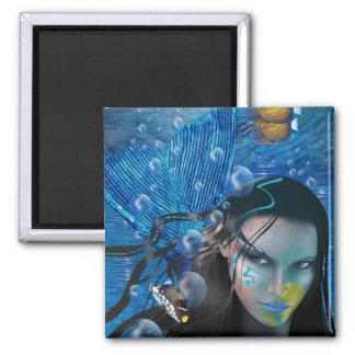 Fantasía: Sirena hermosa de Mara de Cheryl Daniels Imán De Frigorífico