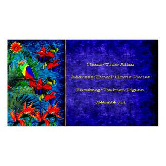 Fantasía tropical tarjetas de visita
