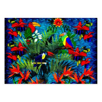 Fantasía tropical tarjetas de visita grandes