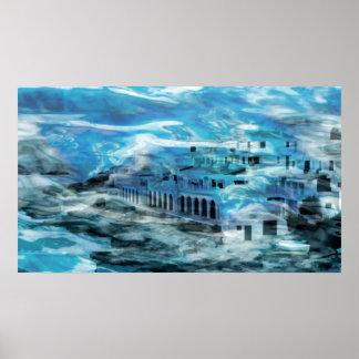 Fantasía Underseaworld de la lona o de la impresió Póster