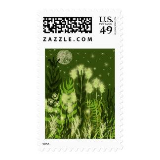Fantasía verde de la luna sello